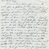 """""""Letter"""" (1959) by Chief Little Wolf (Mi'kmaq) to Princess Red Wing"""