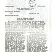 Maine Indian Newsletter (Feb. 1972)