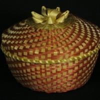 Red Fancy Basket (c. 1970) by Mary Adams