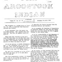 The Aroostook Indian (Nov.-Dec. 1970)