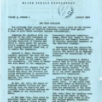 Maine Indian Newsletter (Jan. 1972)