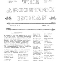The Aroostook Indian (January 1970)