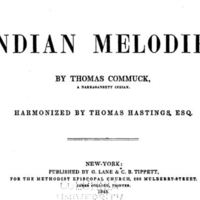 Indian Melodies (1845) by Thomas Commuck