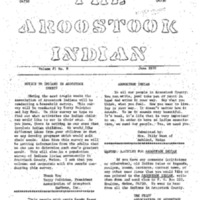 The Aroostook Indian (June 1970)
