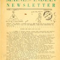 Maine Indian Newsletter (Nov. 1968)